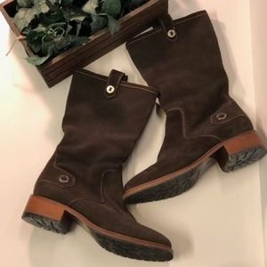 COLE HAAN - Brown Suede Pull on Boots